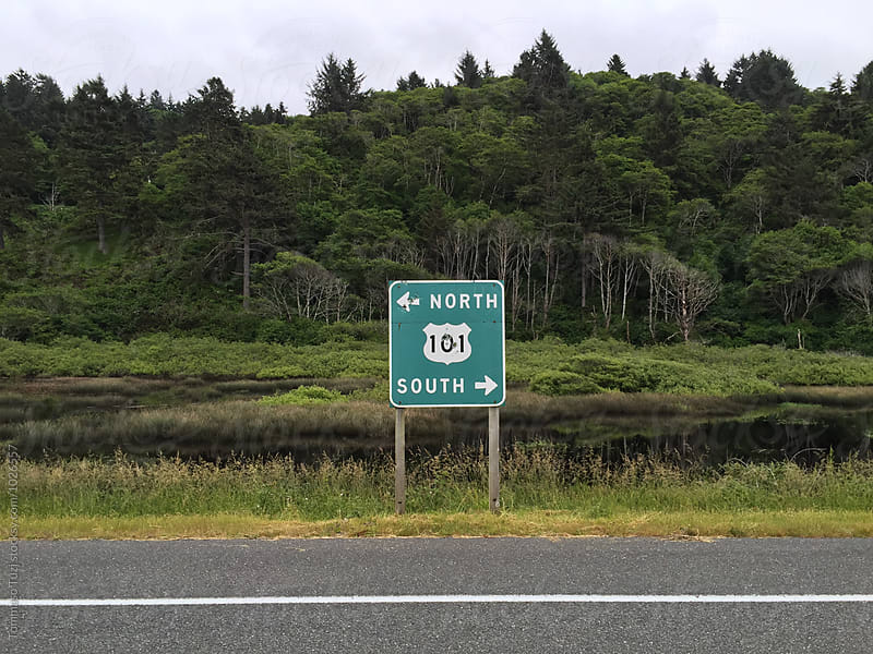 Route 101 sign by Tommaso Tuzj for Stocksy United