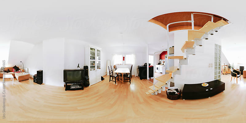 Apartment - 360 x 180 degree view - spherical panorama  by Urs Siedentop & Co for Stocksy United