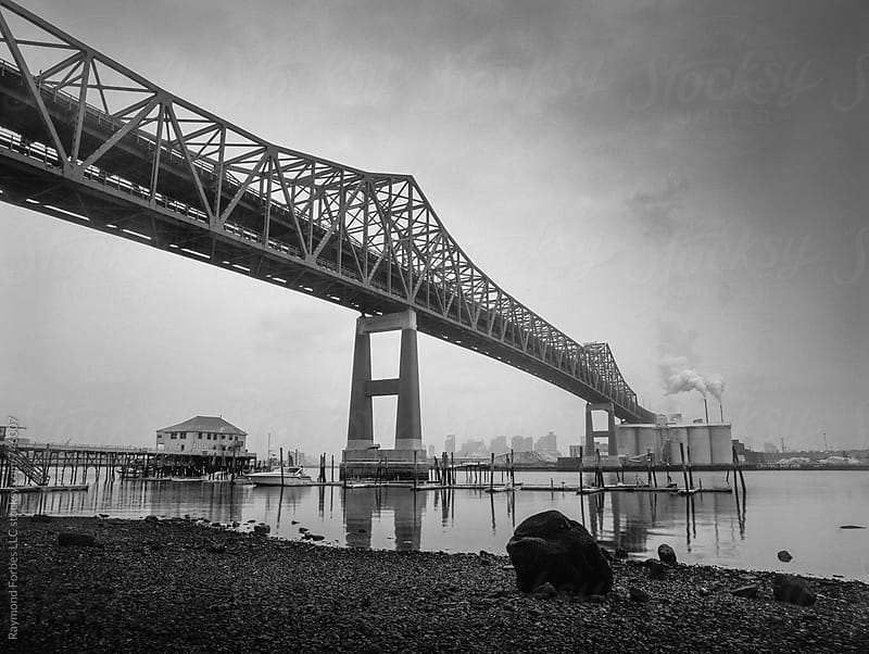 Tobin Bridge Boston Massachusetts by Raymond Forbes LLC for Stocksy United