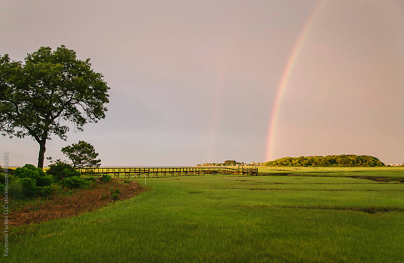 Rainbow on Marsh by Raymond Forbes LLC for Stocksy United
