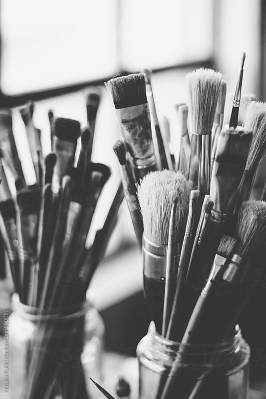 Paint brushes by Natasa Kukic for Stocksy United
