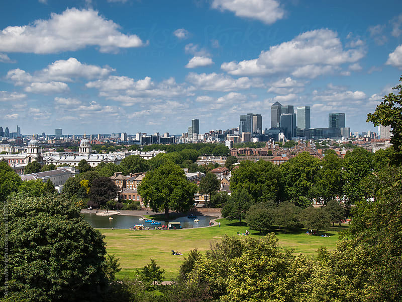 View from Greenwich Park to City of London by Andreas Wonisch for Stocksy United