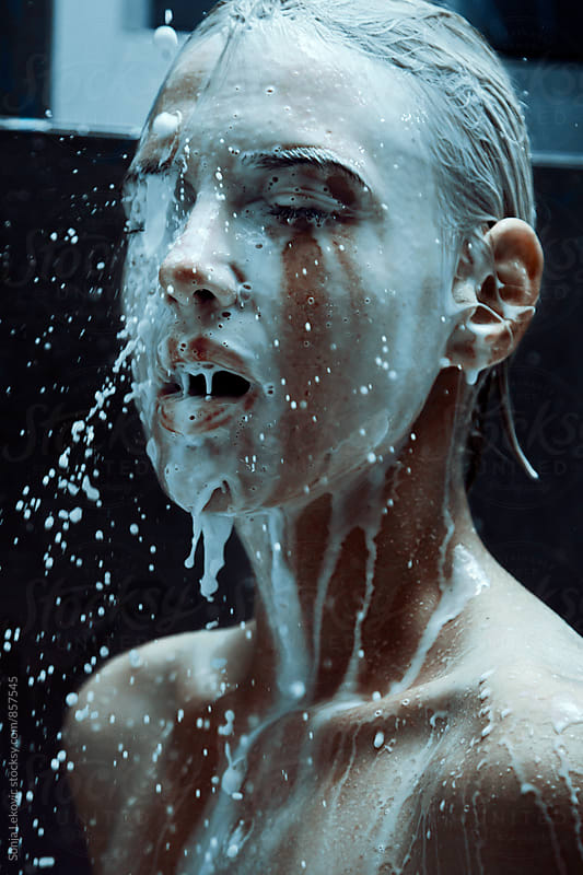 milk splash beauty by Sonja Lekovic for Stocksy United