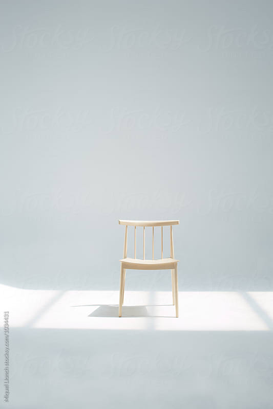 Wooden beautiful chair by Miquel Llonch for Stocksy United