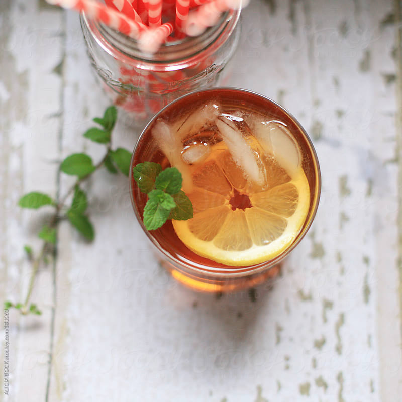 Freshly Brewed Ice Tea With Lemon and Mint by ALICIA BOCK for Stocksy United