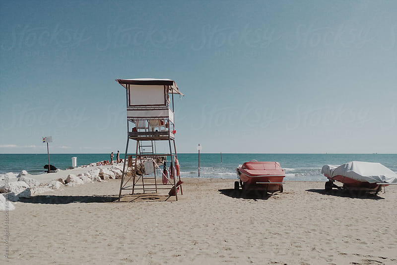 Boats on Venice beach by Anna Malgina for Stocksy United