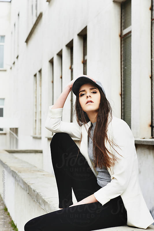Portraits of a young girl with hat by Atakan-Erkut Uzun for Stocksy United
