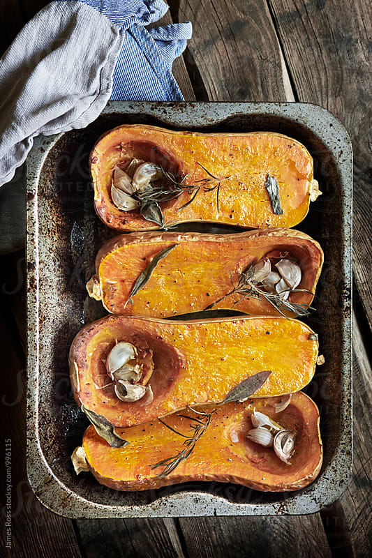 Roasted butternut squash by James Ross for Stocksy United