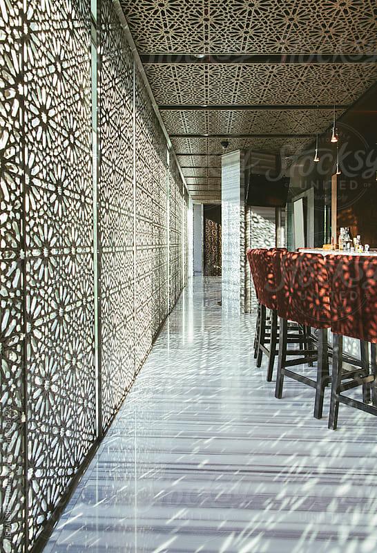 Empty Hotel Bar by VISUALSPECTRUM for Stocksy United