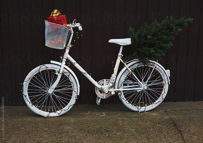 Christmas bicycle by Jovana Rikalo for Stocksy United