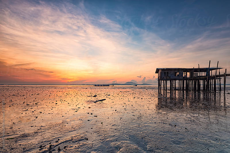 Low Tide Sunrise by Jacobs Chong for Stocksy United