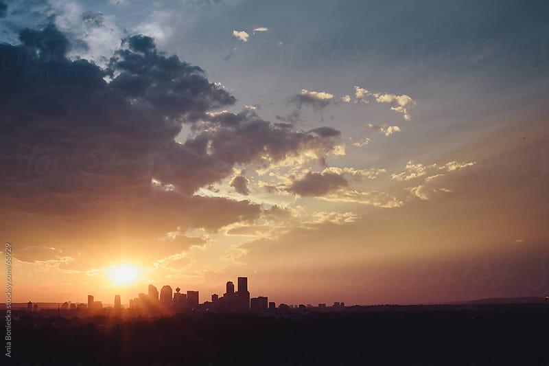 City of Calgary, Alberta sunset by Ania Boniecka for Stocksy United