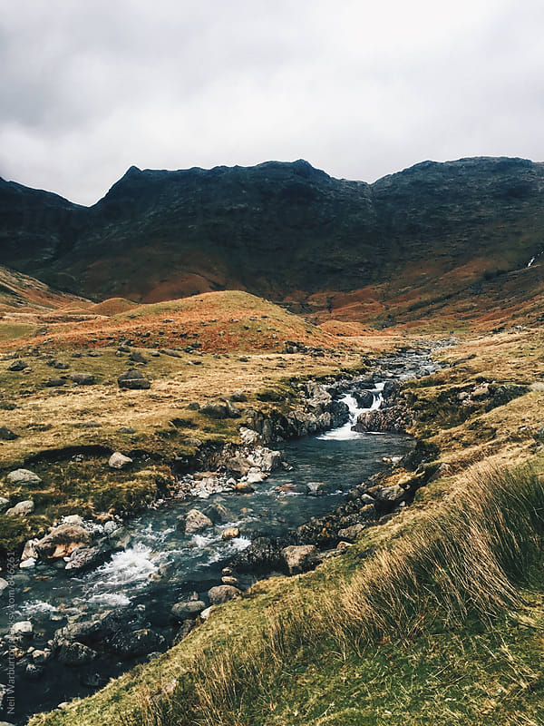 River in a mountain valley by Neil Warburton for Stocksy United