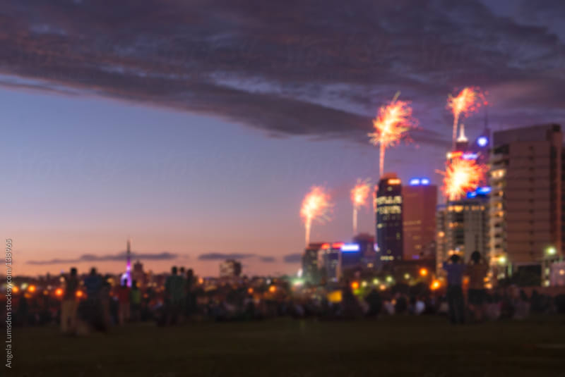 Fireworks on Australia Day by Angela Lumsden for Stocksy United