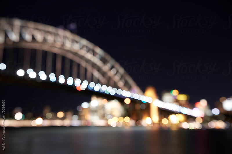 Out Of Focus Sydney Harbour Bridge by Adrian Young for Stocksy United