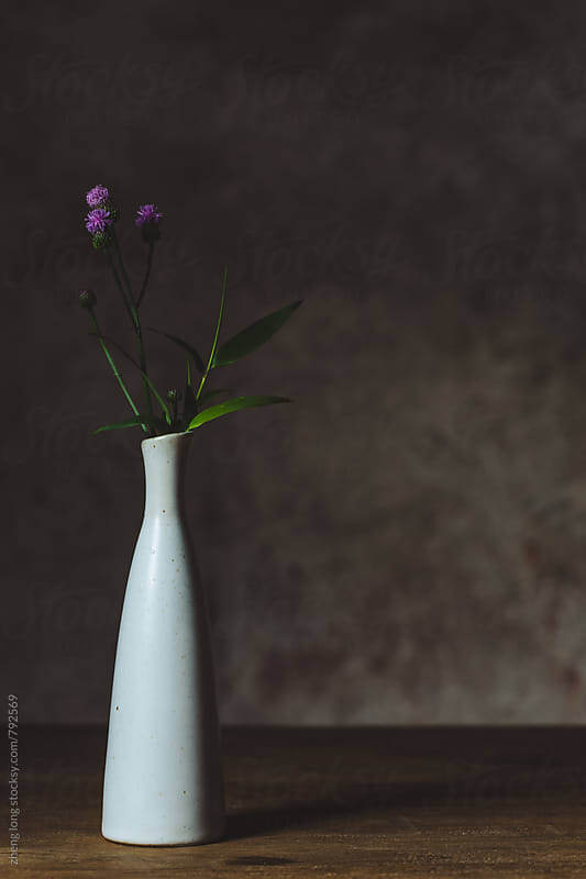 flower arrangement by zheng long for Stocksy United