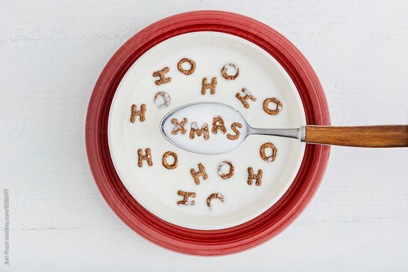 Ho Ho Ho Christmas morning breakfast by Juri Pozzi for Stocksy United