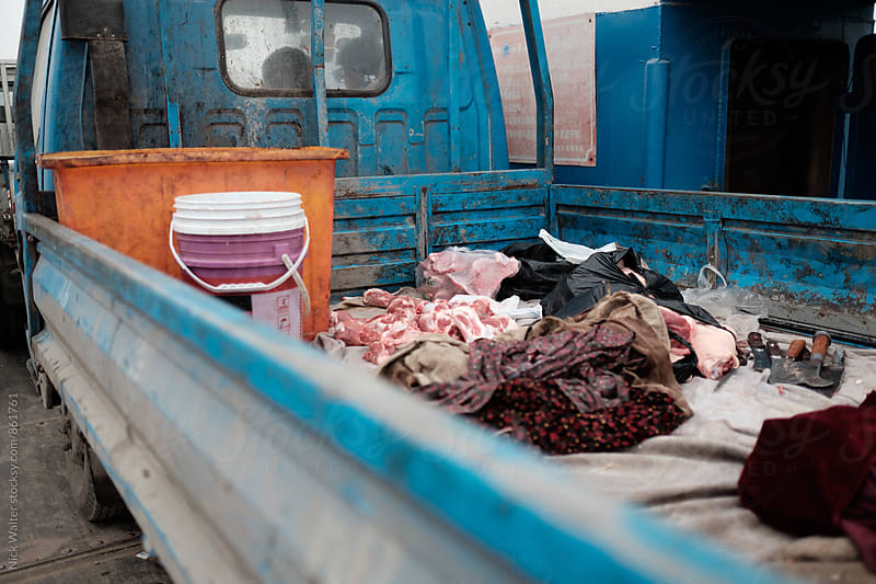Raw Meat In Truck Bed by Nick Walter for Stocksy United