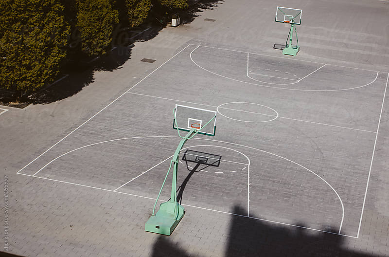 basketball court by zheng long for Stocksy United