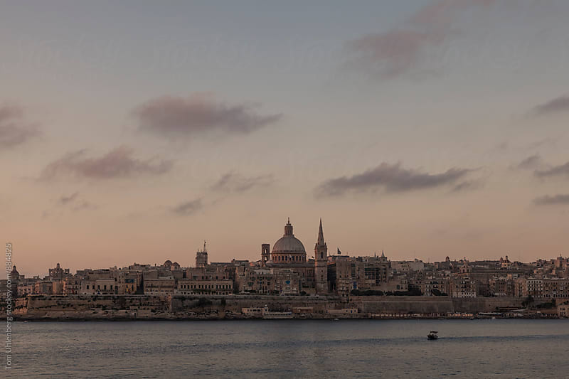 Valletta, Malta - City Skyline at Dawn by Tom Uhlenberg for Stocksy United