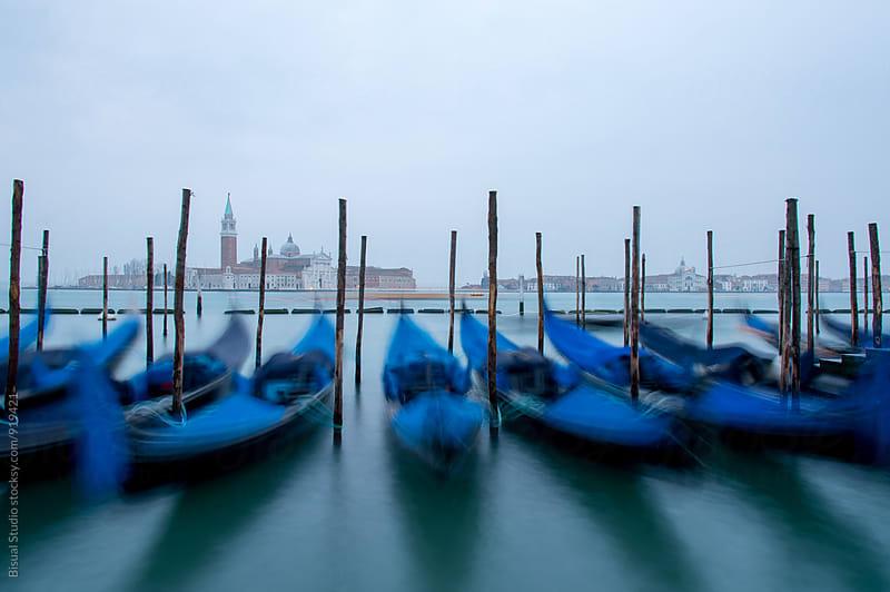 Gondolas in Venice by Bisual Studio for Stocksy United