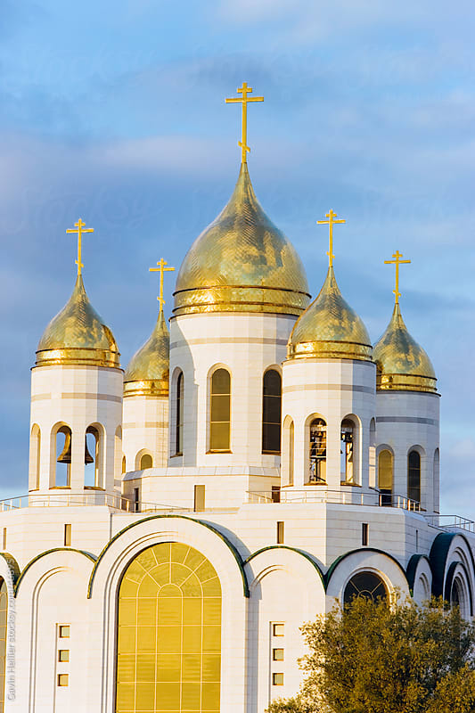 Russia, Kaliningrad, Ploshchad Pobedy (Pobedy Square), Cathedral of Christ the Saviour by Gavin Hellier for Stocksy United