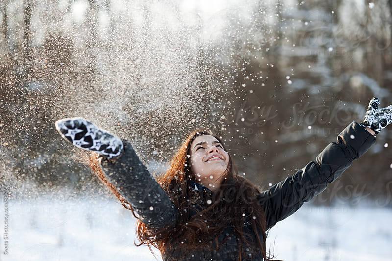 Winter portrait of young girl by Svetlana Shchemeleva for Stocksy United