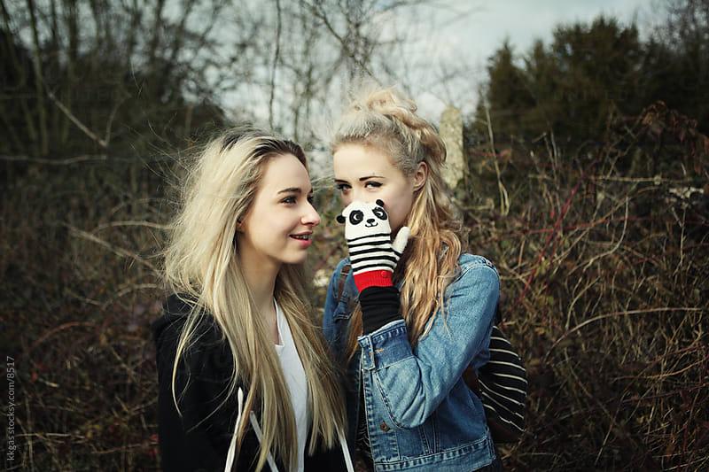 Teenage gossip. by kkgas for Stocksy United