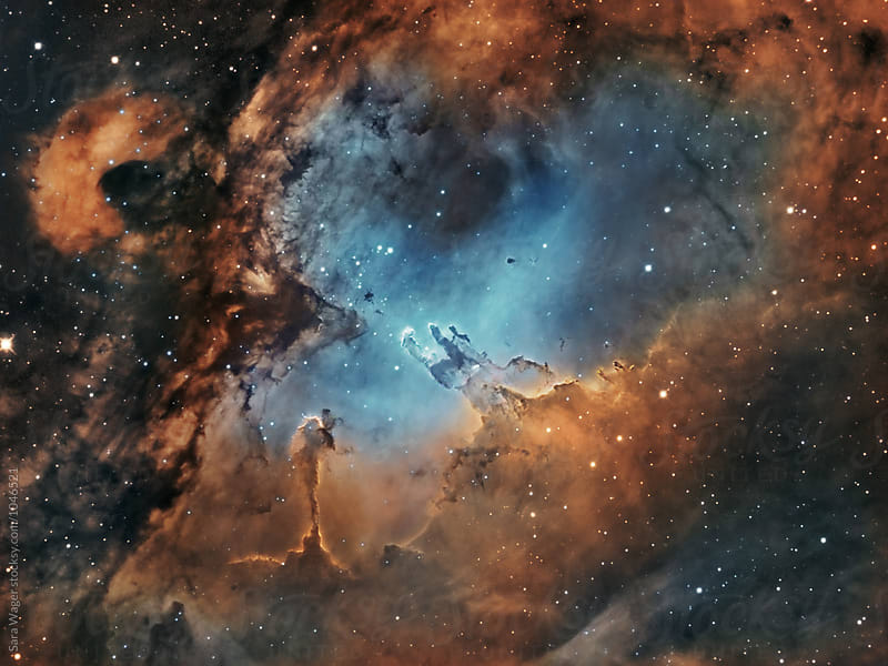 M16 The Pillars of Creation in colour by Sara Wager for Stocksy United