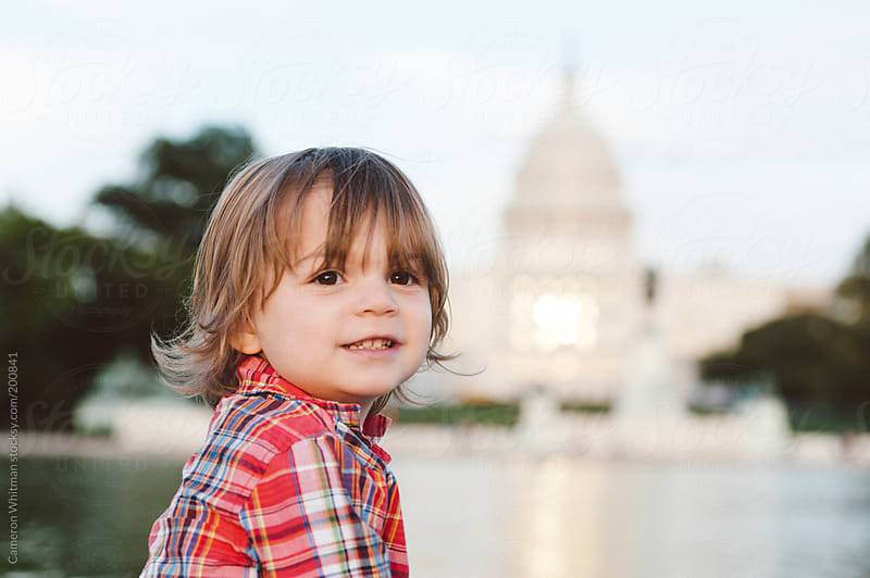 Young boy visiting the nations capitol, Washington DC by Cameron Whitman for Stocksy United
