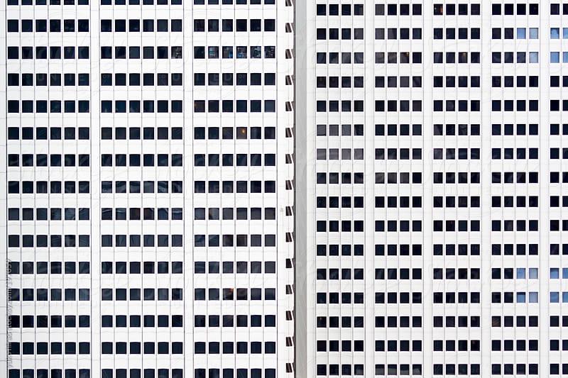 Symmetric window pattern of an office building by yuko hirao for Stocksy United