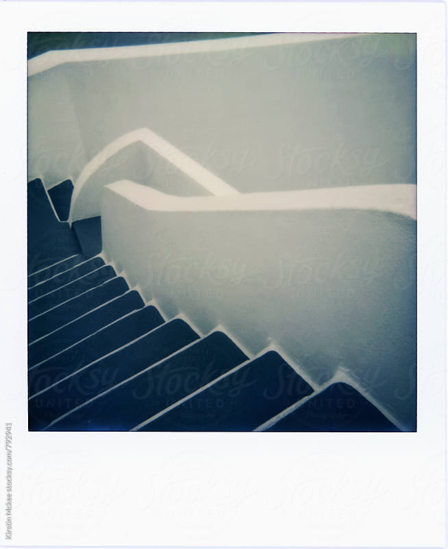 Polaroid of steps in Santorini by Kirstin Mckee for Stocksy United