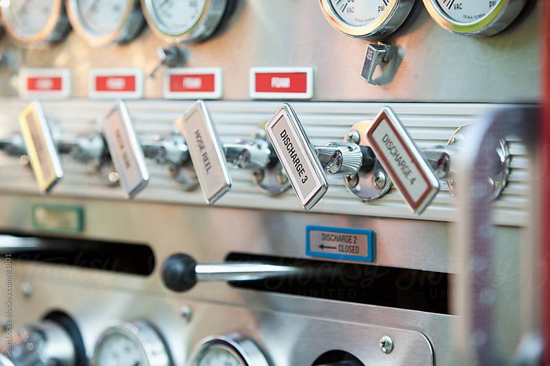 Firehouse: Fire Truck Pumper Controls by Sean Locke for Stocksy United