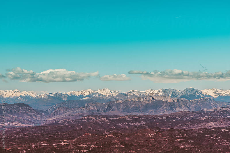 Mountains of Pyrenees with snow by Javier Pardina for Stocksy United