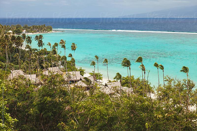 Looking towards the island of Tahiti from Mo'orea, French Polynesia. by Robert Zaleski for Stocksy United