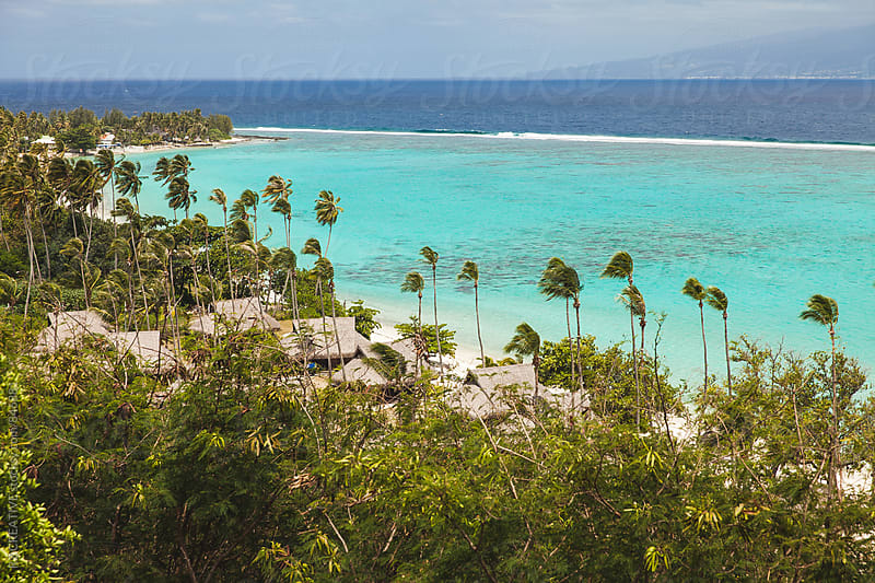 Looking towards the island of Tahiti from Mo'orea, French Polynesia. by RZ CREATIVE for Stocksy United