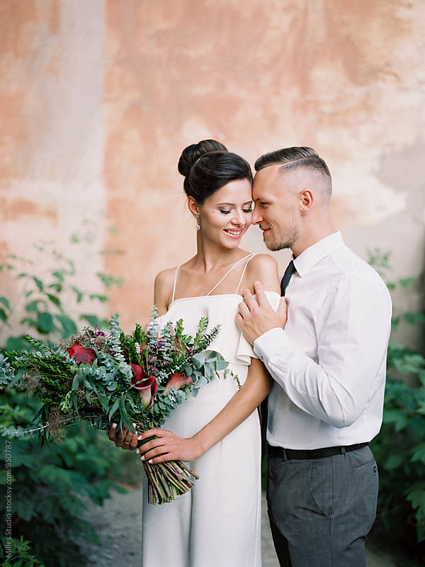 Bride and Groom Portrait by Milles Studio for Stocksy United