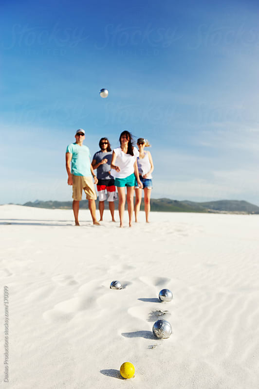 beach boules by Daxiao Productions for Stocksy United