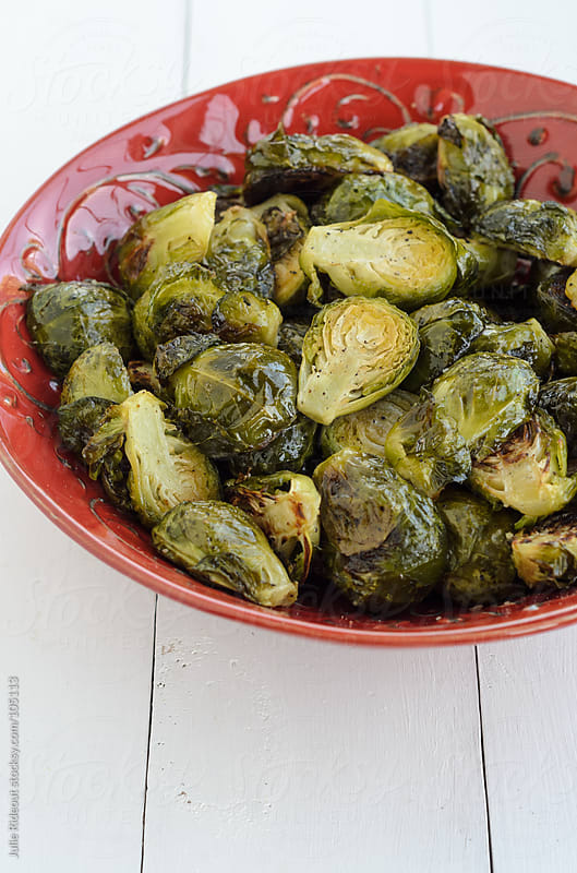 Roasted Brussels Sprouts by Julie Rideout for Stocksy United