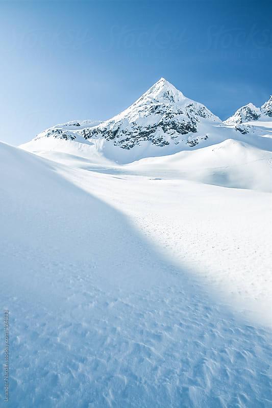 winterlandscape on a glacier in the austrian alps by Leander Nardin for Stocksy United