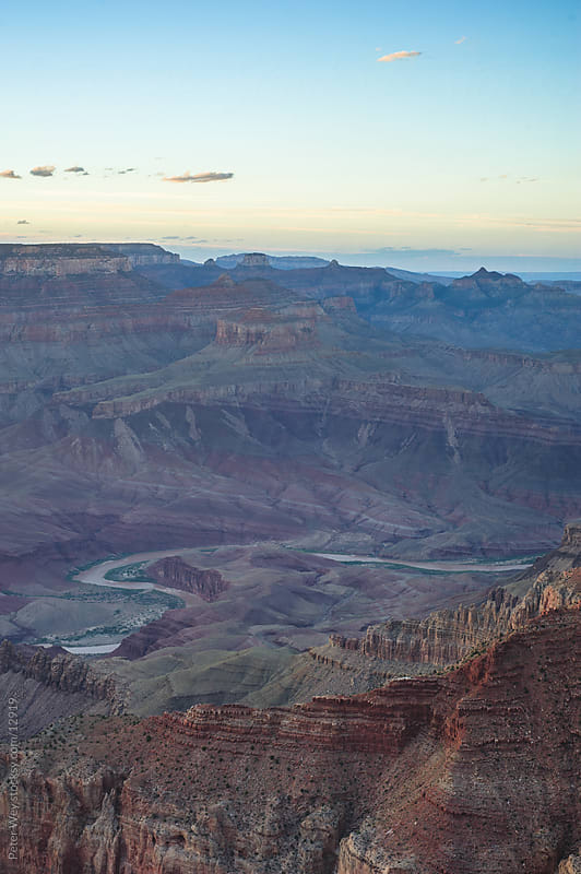 Sunset at Grand Canyon by Peter Wey for Stocksy United