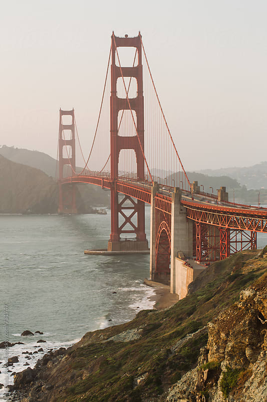 Golden Gate Bridge, San Francisco Bay by michela ravasio for Stocksy United