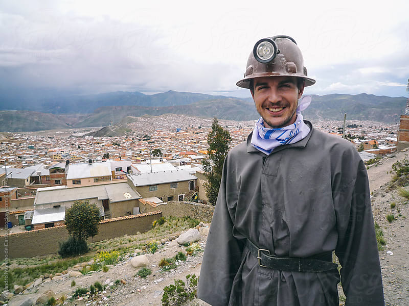 Young miner ready to get in a mine, Potosi, Bolivia by Alejandro Moreno de Carlos for Stocksy United