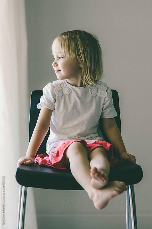 Little Girl Portrait by Stephen Morris for Stocksy United
