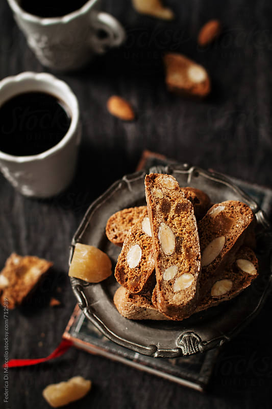 Almond ginger biscotti by Federica Di Marcello for Stocksy United