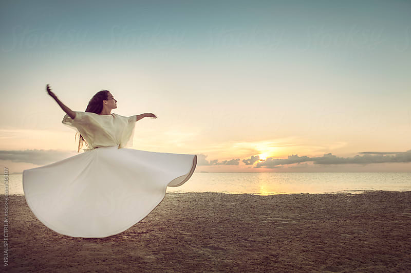 Whirling Dervish at Sunset by Julien L. Balmer for Stocksy United
