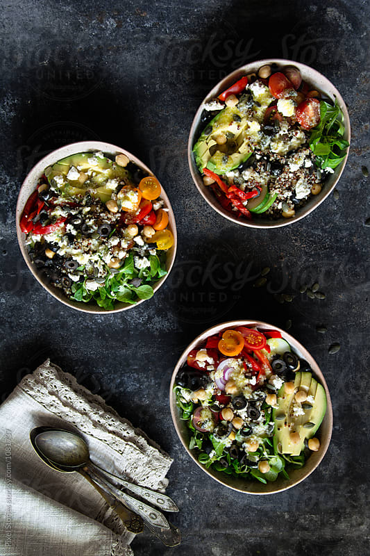 Mediterranean quinoa salad by Pixel Stories for Stocksy United