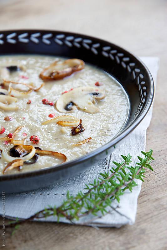 Chestnut Mushroom Soup by Harald Walker for Stocksy United