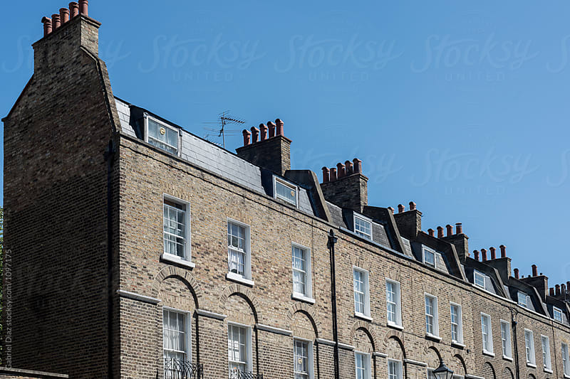 House fronts in  London by Gabriel Diaz for Stocksy United
