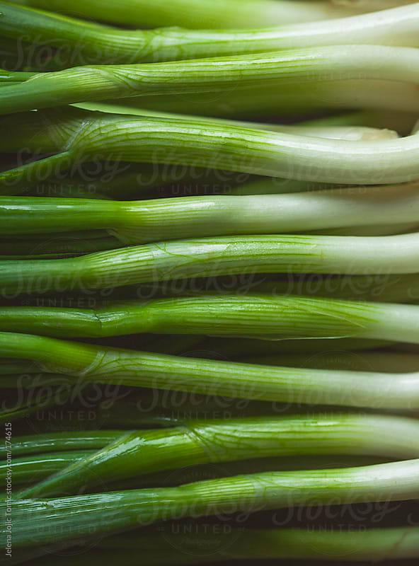 Spring onion heap by Jelena Jojic Tomic for Stocksy United